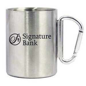 14 Oz. Stainless Steel Carabiner Mug