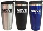 Custom 16 Oz. Stainless Steel Travel Tumbler w/steel Interior & screw-on Lid