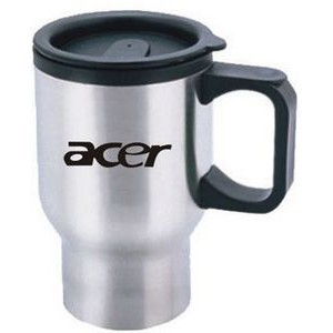 Travel Mug - 16 Oz. Stainless Steel w/ D Handle
