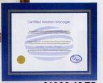 Custom Blue Leatherette Certificate Holder Frame