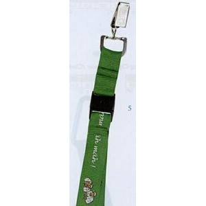 "Lanyard w/ Swivel Bulldog Clip & Snap Buckle (3/4""x42"")"