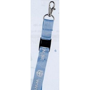 "Lanyard w/ Swivel Lobster Claw & Snap Buckle (3/4""x42"")"