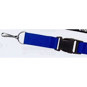"Lanyard w/ Split Ring/ Large J-Hook/ Snap Buckle (1""x42"")"