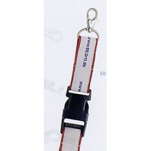 "Lanyard w/ Swivel Lobster Claw & Snap Buckle (1""x42"" - Woven)"