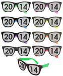 Custom 80s Style Sunglasses w/ Full Lens Imprint