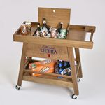 Custom Oak Street Bar Cart