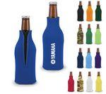 Custom Premium Foam Bottle Insulator with Zipper - Screen Printed