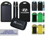 Custom 5000 mAh Dual-USB Water Resistant Solar Power Bank Battery Charger