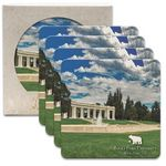 Custom CoasterStone Square Absorbent Stone Coaster - 4 Pack (4 1/4