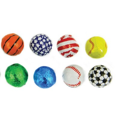 Chocolate Marbles, Earth, and Sports Balls Candy