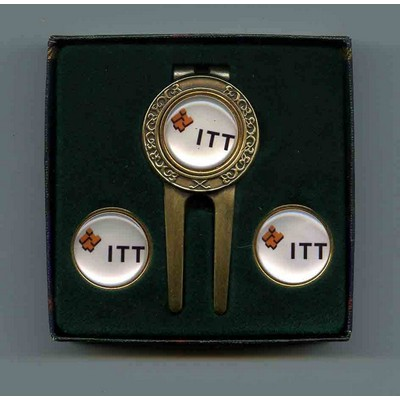 Celtic Divot Tool Gift Set W/ Ball Markers & Money Clip
