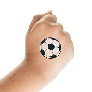 Soccer Ball Temporary Tattoo