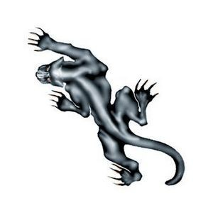 Prowling Panther Temporary Tattoo