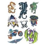 Custom Boys World Sheet of Temporary Tattoos