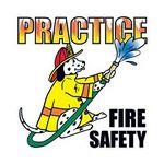 Custom Practice Fire Safety Temporary Tattoo