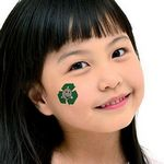Custom Recycle Earth Temporary Tattoo