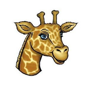 Giraffe Head Temporary Tattoo