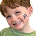 Custom Gray Elephant Temporary Tattoo