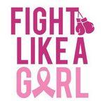Custom Breast Cancer Fight Like a Girl Temporary Tattoo