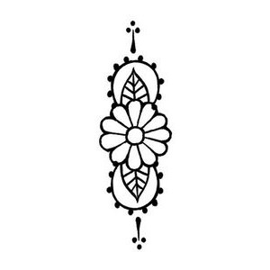 Minimalist Flower Temporary Tattoo