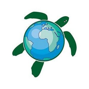 Earth Turtle Temporary Tattoo