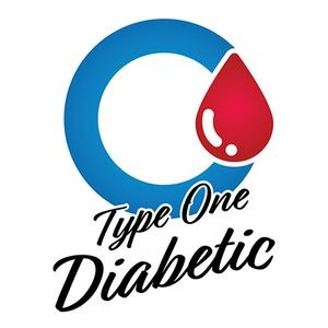 Type 1 Diabetic Blue Circle Temporary Tattoo