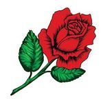 Custom Blooming Rose Temporary Tattoo