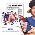 Custom US Flag Augmented Reality Tattoo