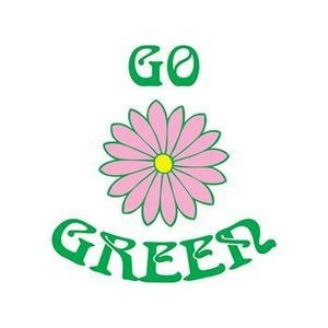 Go Green Flower Temporary Tattoo