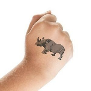 Rhino Temporary Tattoo