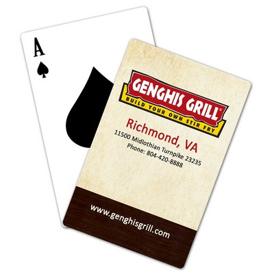 Deck of Standard Size Playing Cards NO MINIMUMS, No Set Ups