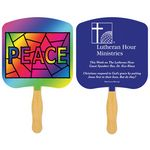 Custom Religious Hand Fan/ Peace Stained Glass