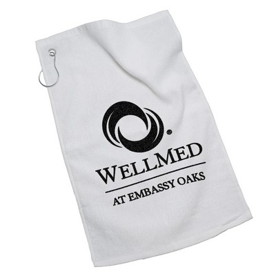 Golf Towel w/ Silver Grommet Ring