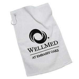 Golf Towel w/ Silver Grommet Ring