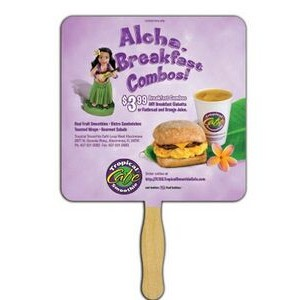 Square Glued Hand Fan (1 Side/ 4 Color Process imprint)