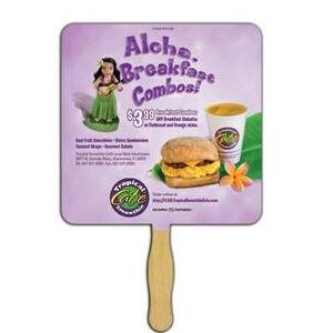 Square Sandwiched Hand Fan (2 Side/ Four Color Process Imprint)