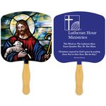 Custom Religious Hand Fan/ Jesus the Good Shepherd