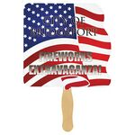 Custom Flag Sandwiched Hand Fan (2 Side/ Four Color Process)