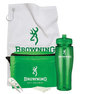 Contour Bottle Golf Gift Set w/ 24 Oz. Drink Bottle & 6 Pack Cooler Bag