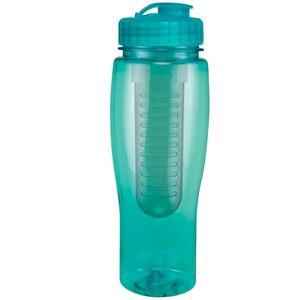 24 Oz. Translucent Contour Bottle w/ Flip Top Lid