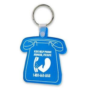 Soft Squeezable Key Tag (Telephone)