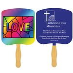 Custom Religious Hand Fan/ Love Stained Glass