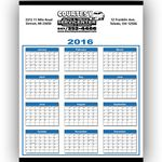 Custom Year At A View Wall Calendar
