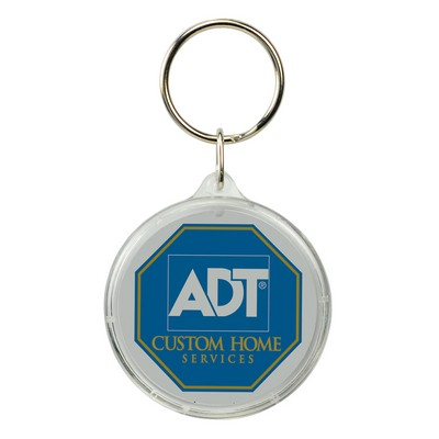 Round Crystal Key Tag