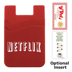 Dual Pocket Cell Phone Sleeve with Adhesive Backing