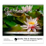 Custom Spiral Bound Wall Calendar (Gardens)