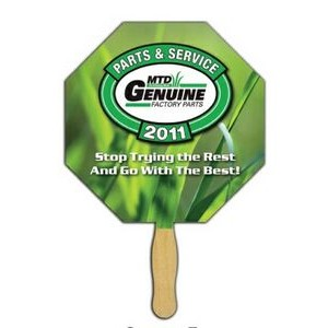 Octagon Glued Hand Fan (1 Sided/ 1 Imprint Color)