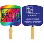 Custom Religious Hand Fan/ Faith Stained Glass