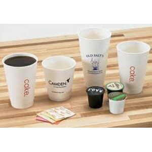 16 Oz White Insulated Paper Cups (Ink Imprinted)
