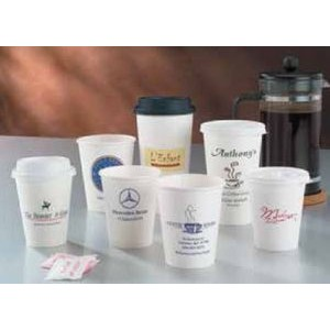 12 Oz. White Hot Paper Cup (Ink Imprinted)